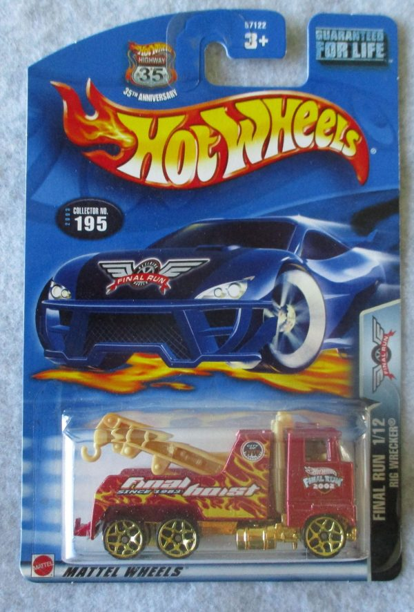 Hot Wheels red tow truck