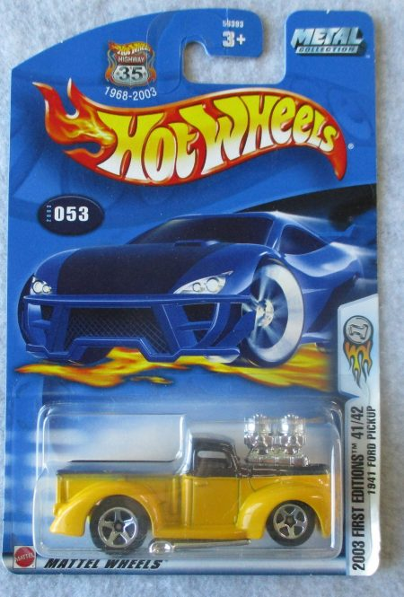 hot wheels 2003 yellow pick up