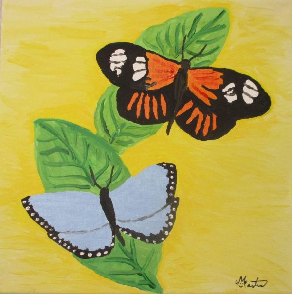 Butterflies Original Painting by Martice