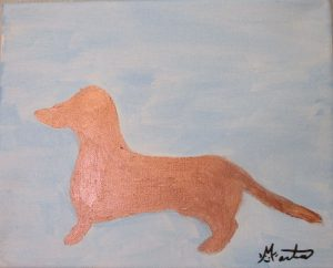 Dachshund original painting by Martice Carlson