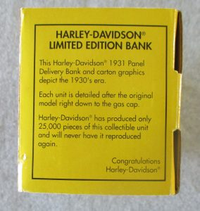 Harley Davidson Limited Edition Bank