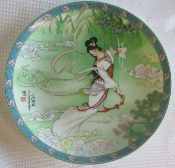 lady white collector plate