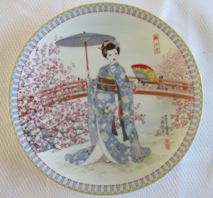 plum blossoms collector plate