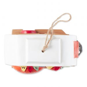 red white camper birdhouse top