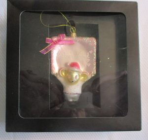baby's first Christmas ornament mouse