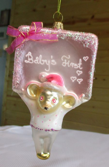 baby's first Christmas ornament girl